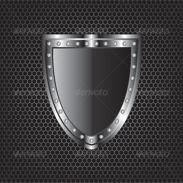 GraphicRiver Metal Textures and Shield Illustration 5579921