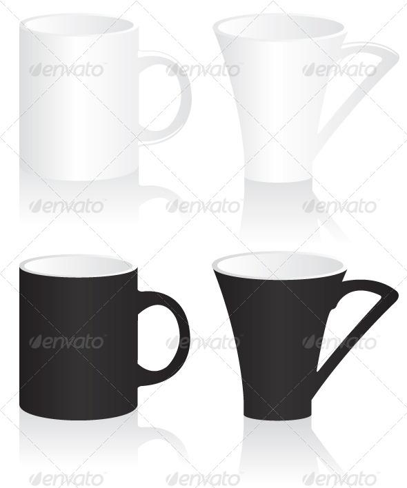 GraphicRiver Black and White Mugs 5579954