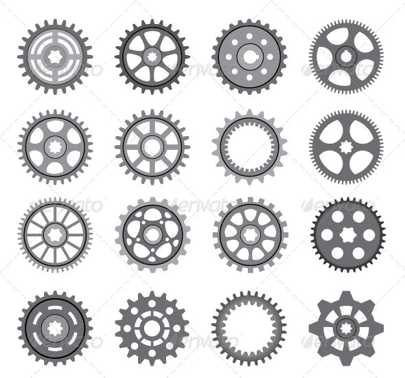 GraphicRiver Set of Gears and Pinions 5579964