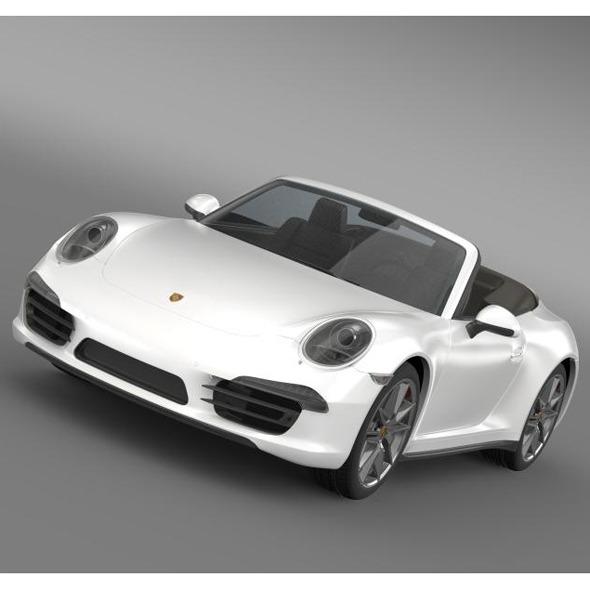 3DOcean Porsche 911 Carerra 4 Cabrio 2013 5580003