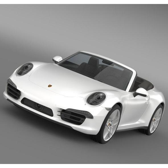 3DOcean Porsche 911 Carerra 4S Cabrio 2013 5580035