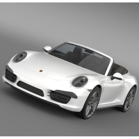 Porsche 911 Carerra Cabrio 2013 - 3DOcean Item for Sale