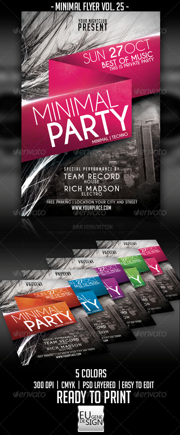 GraphicRiver Minimal Flyer Vol 25 5580230
