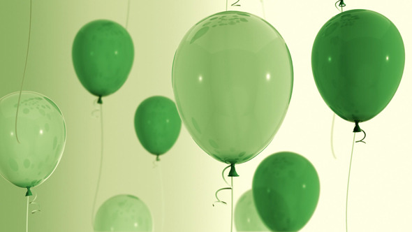 VideoHive Green Balloons 5534732