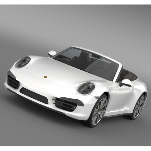 Porsche 911 Carerra s Cabrio 2013 - 3DOcean Item for Sale