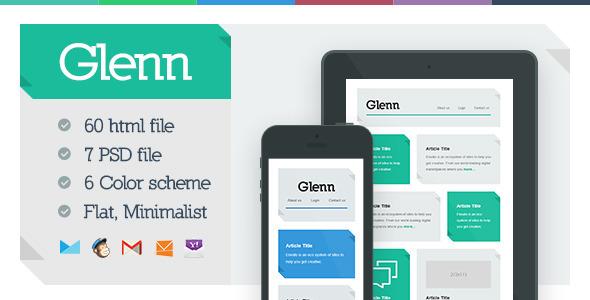 ThemeForest Glenn Responsive Email Template 5580428