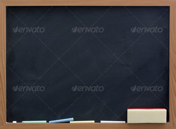 Stock Photo - PhotoDune blank blackboard with eraser and chalk 604296