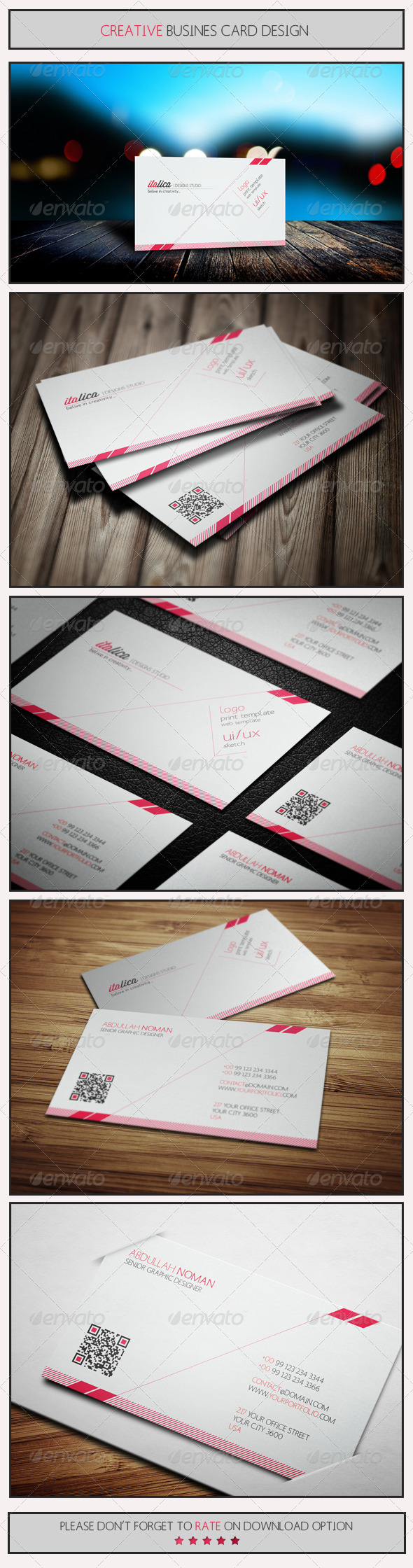 GraphicRiver Creative Business Card Design by Italica 5580497