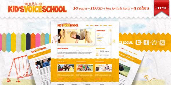 ThemeForest Kids Voice School HTML Template 573808