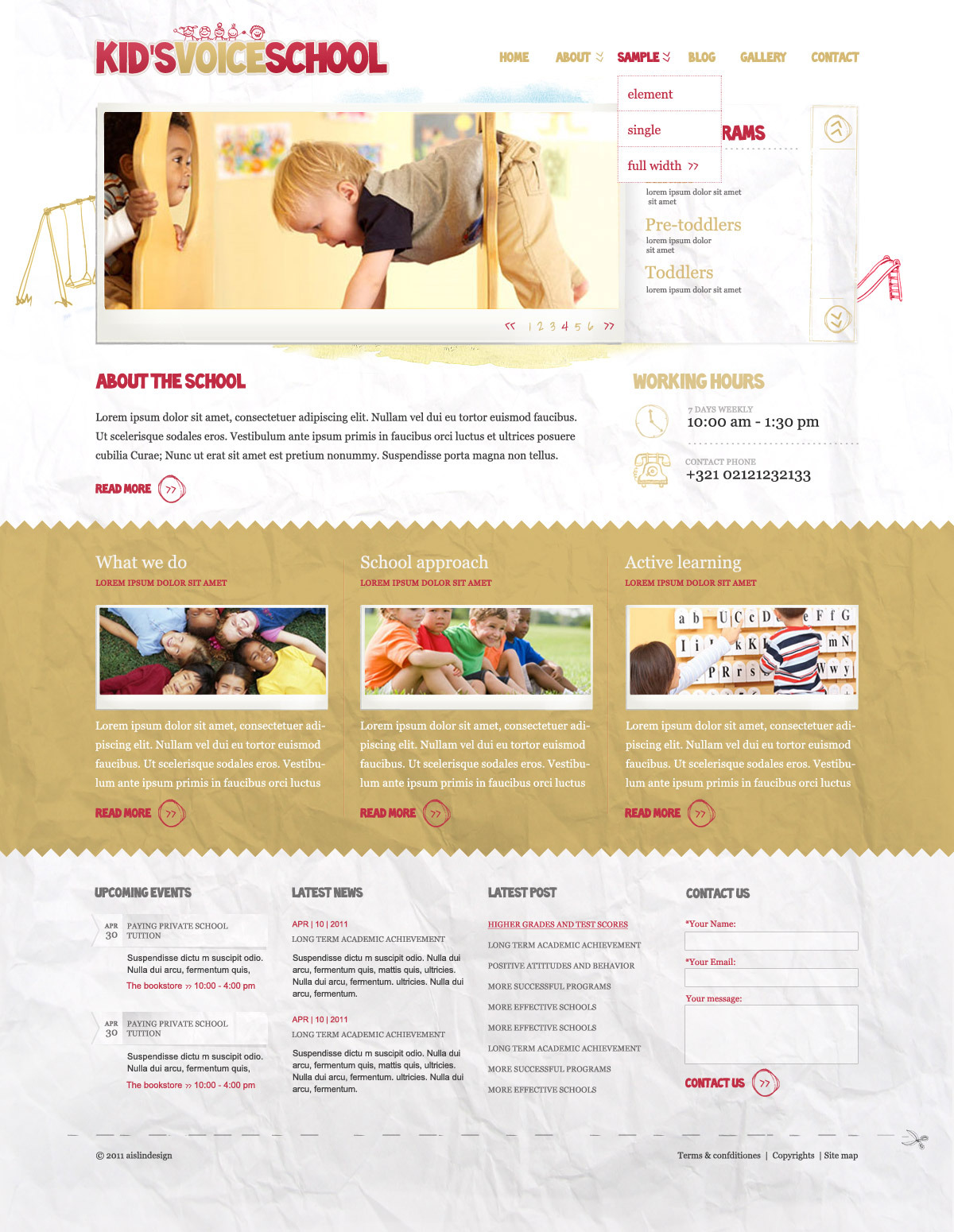 Kids Voice School - HTML Template