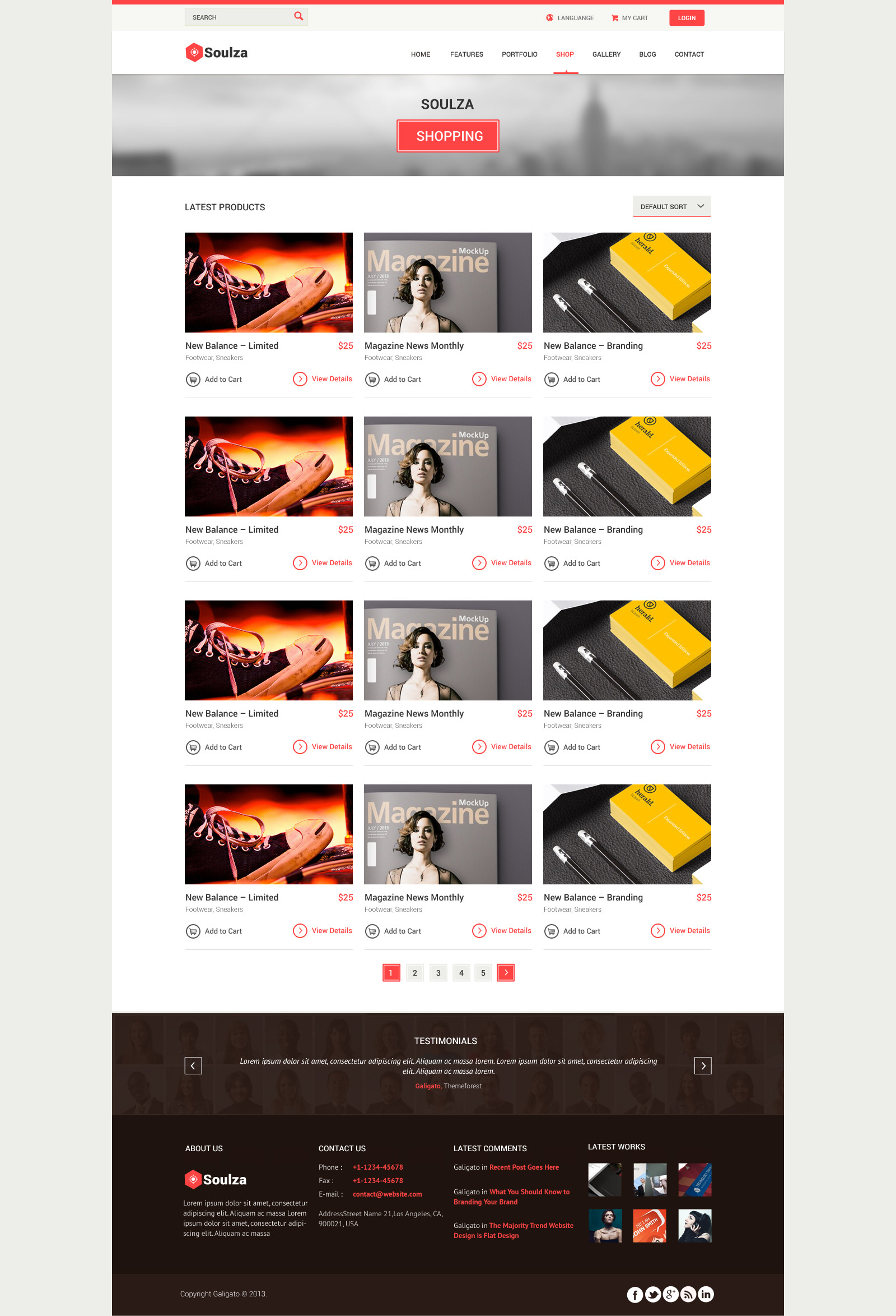 Soulza - Unique Premium Multi Purpose PSD Theme