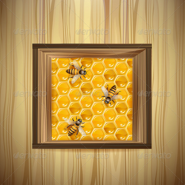 GraphicRiver Bees and Honeycombs 5580738