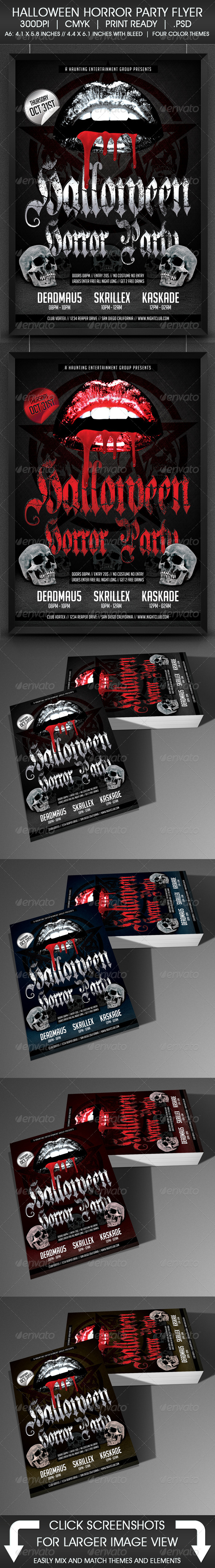 GraphicRiver Halloween Horror Party Flyer 5549458