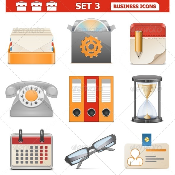 GraphicRiver Vector Business Icons Set 3 5580838