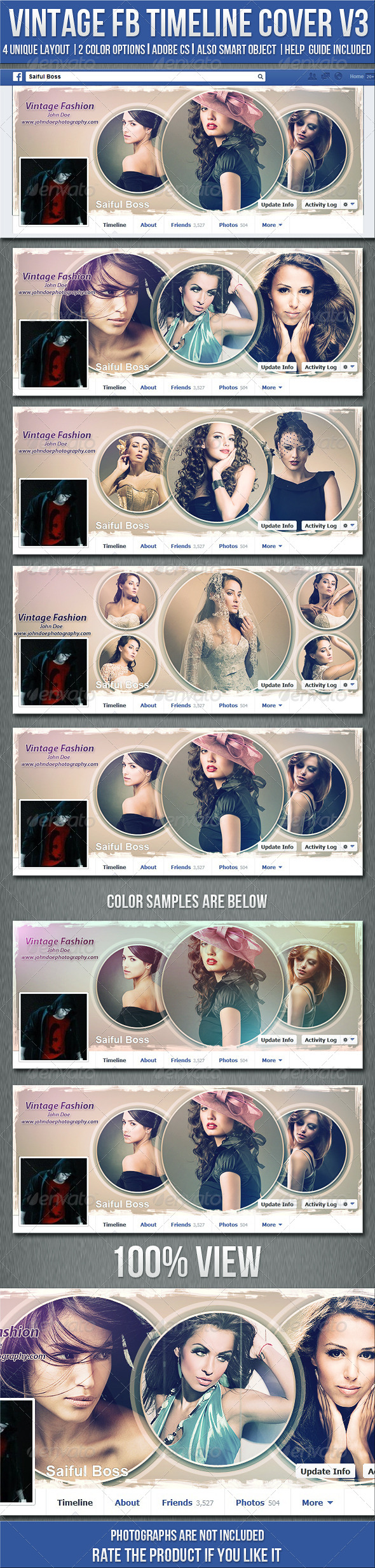 GraphicRiver Vintage Photography Fb Timeline Cover V3 5581071