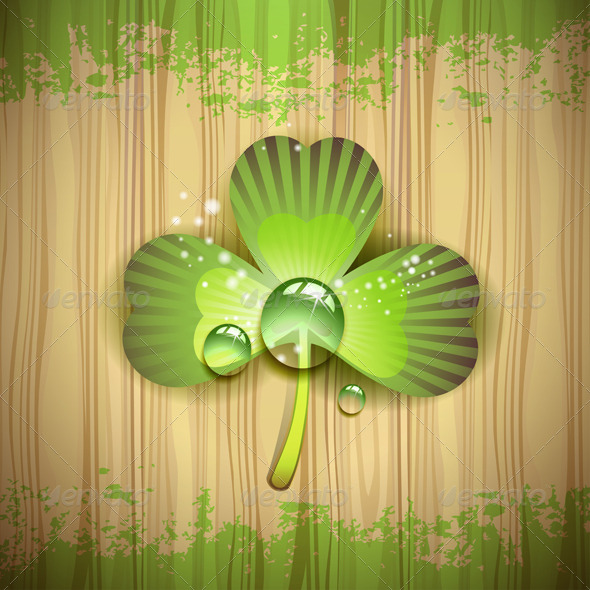 GraphicRiver Clover Over Wood 5581195