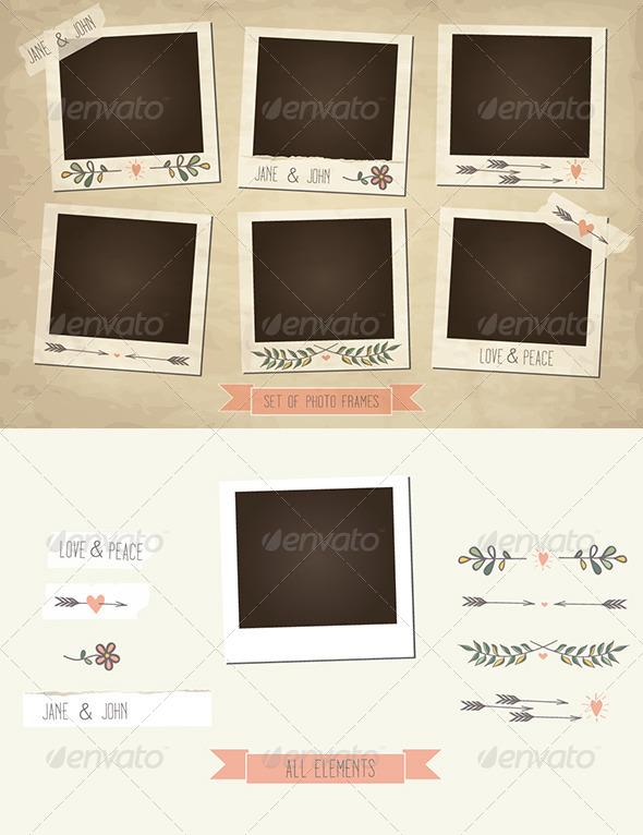 GraphicRiver Set of Vintage Photo Frames 5580837
