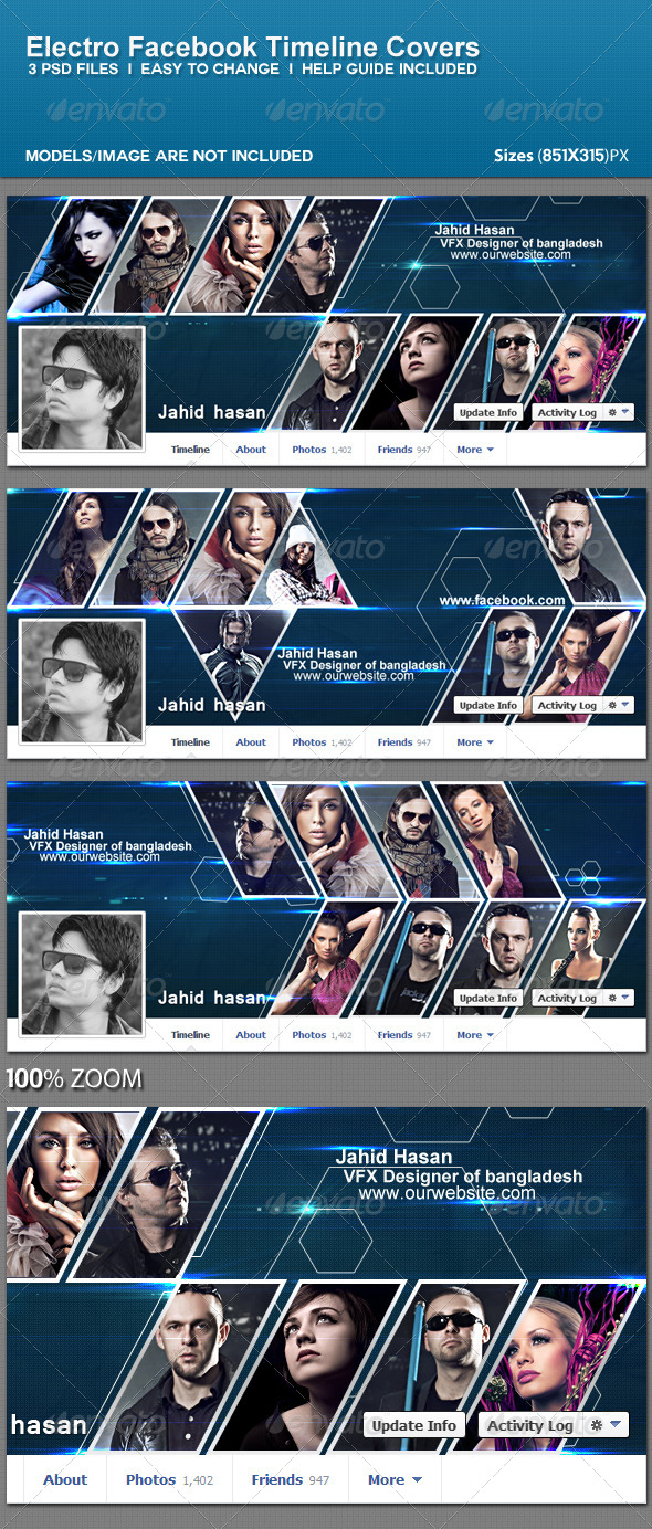GraphicRiver Electro Fb Timeline Covers 5581486