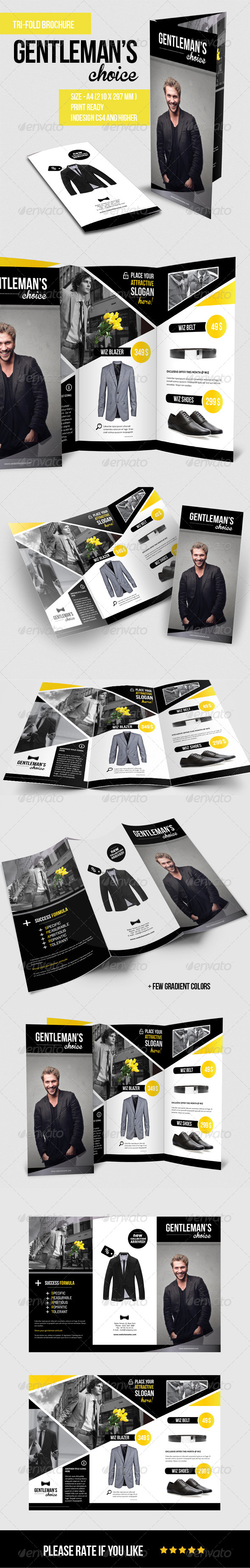 GraphicRiver Gentleman s Choice Tri-fold Brochure 5551503