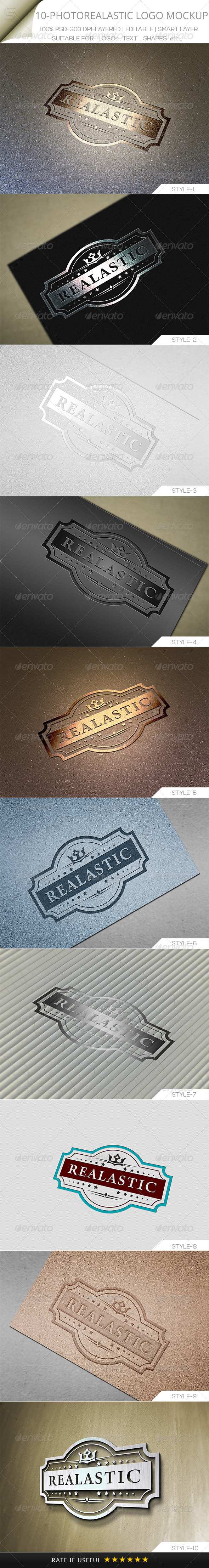 GraphicRiver 10 Photorealastic Logo Mock-up V-01 5581707