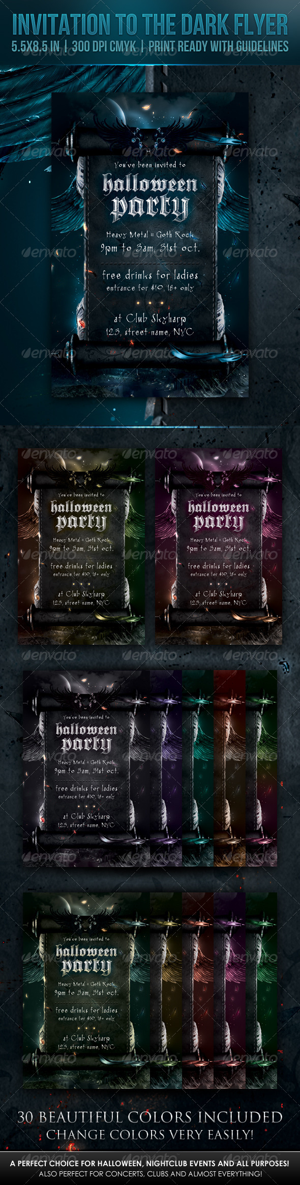 Invitation to the Dark Flyer - Print Templates