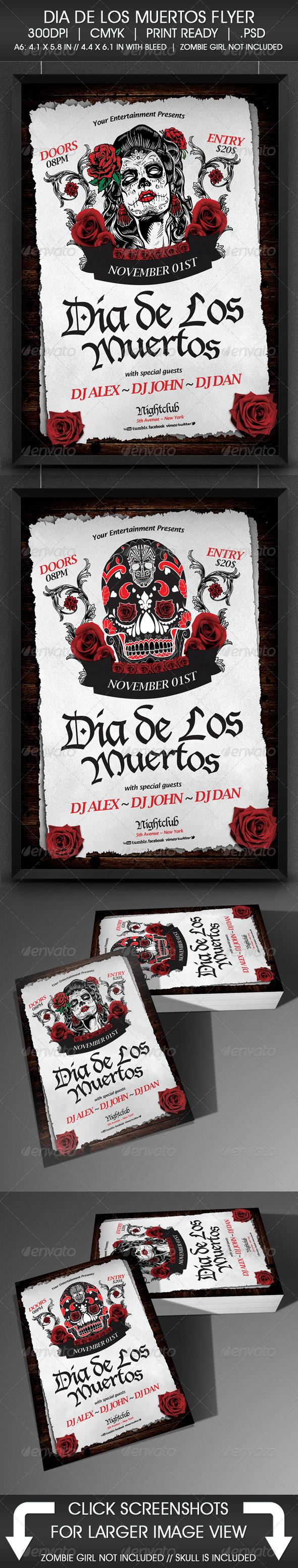 GraphicRiver Dia De Los Muertos Flyer 5582164