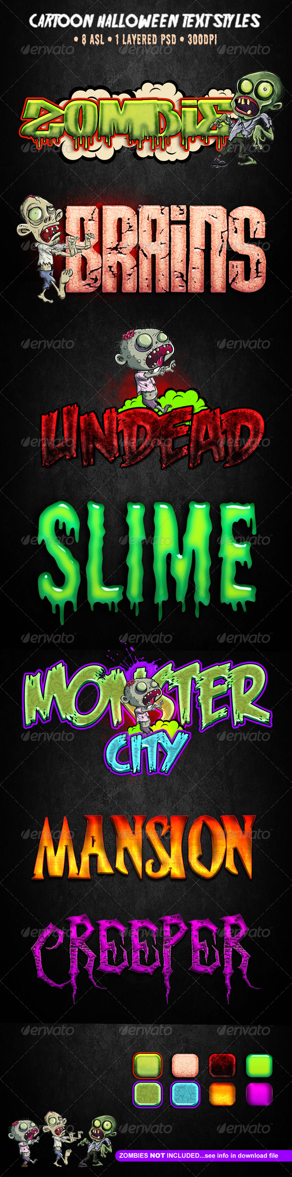 Cartoon Halloween Text Styles - Text Effects Styles