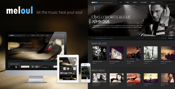 ThemeForest Meloul Music and Band HTML5 Template 5582427