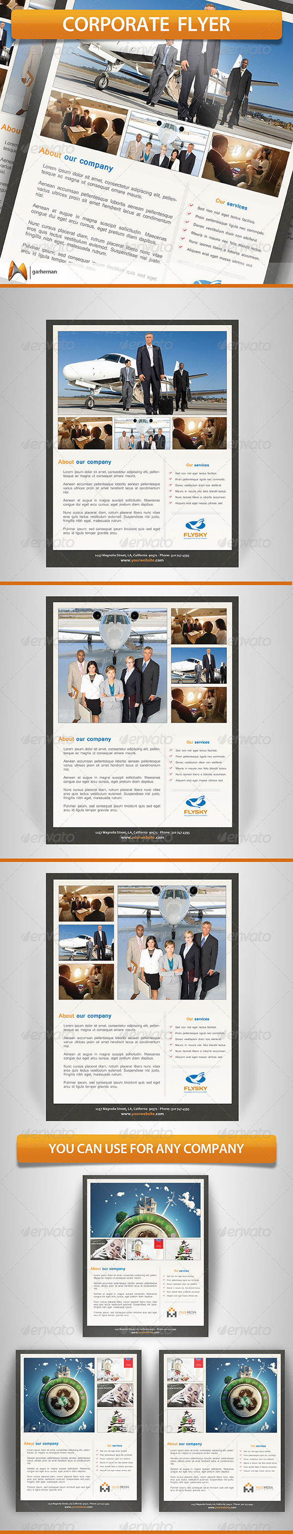 GraphicRiver Corporate Flyer Template 5550312