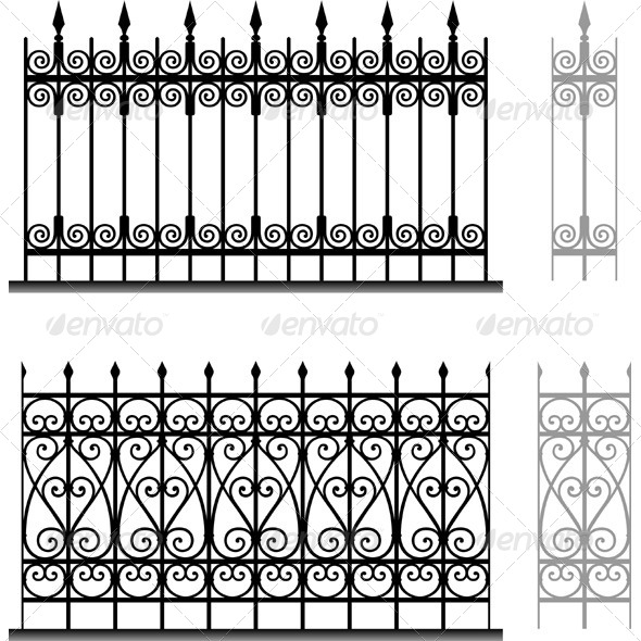 GraphicRiver Wrought Iron Modular Railings and Fences 5583178