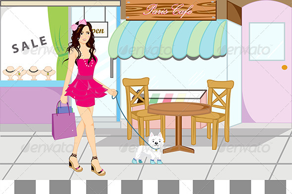 GraphicRiver Shopping Girl 5583303