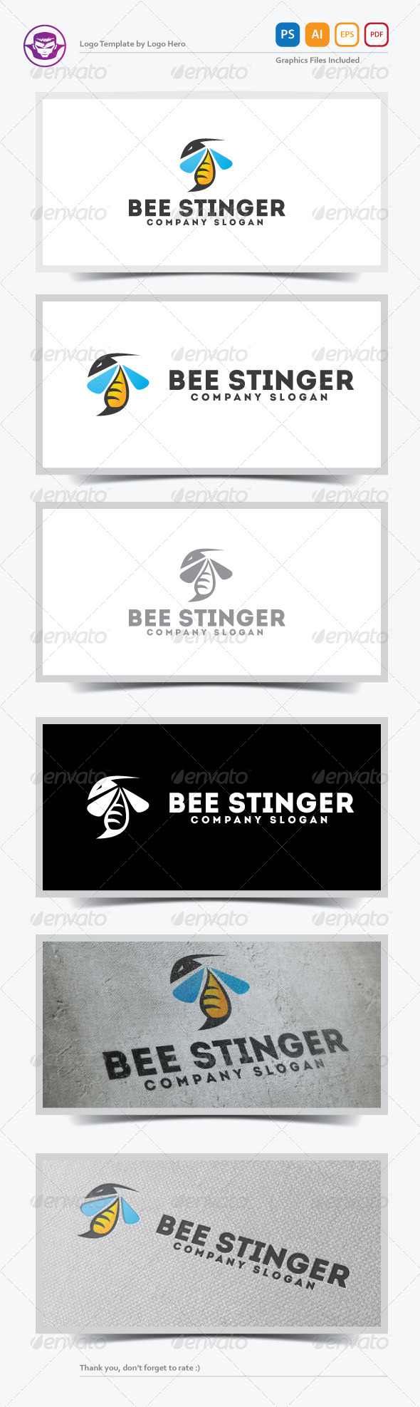 GraphicRiver Bee Stinger Logo Template 5583390