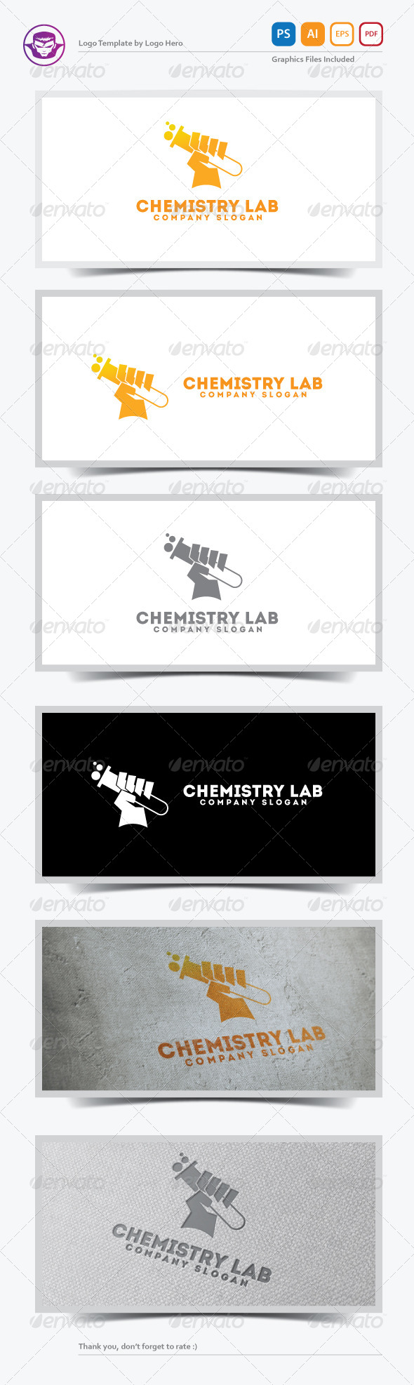 GraphicRiver Chemistry Lab Logo Template 5583434