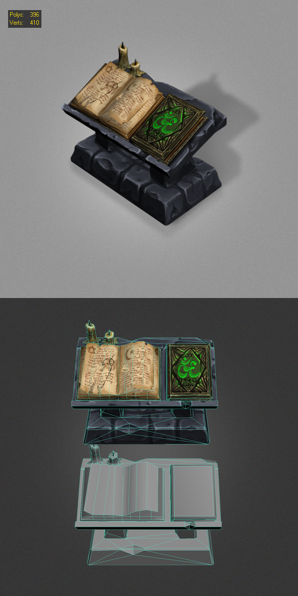 3DOcean old book low poly 5583562