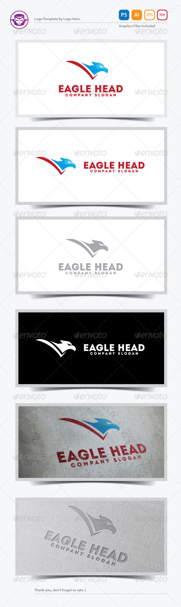 GraphicRiver Eagle Head Logo Template 5583987