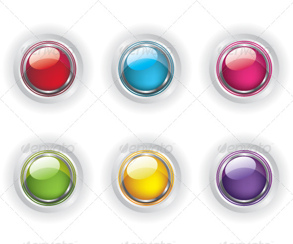 GraphicRiver Set of Colored Glass Buttons 5584089