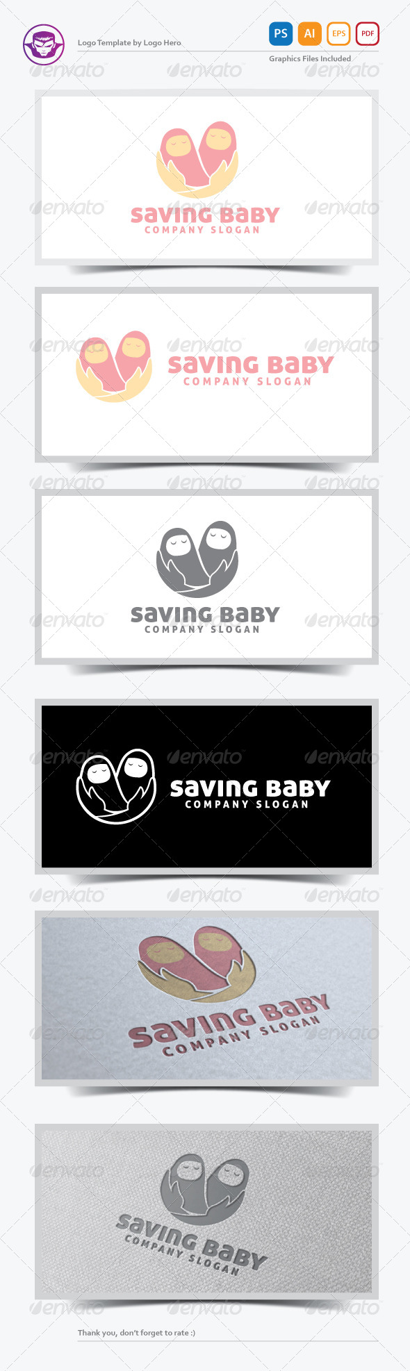 GraphicRiver Saving Baby Logo Template 5584090