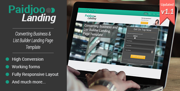 ThemeForest Paidjoo Business & List Builder Landing Page 5533539