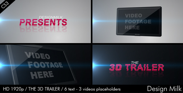 After Effects Project - VideoHive The 3D Trailer 574033