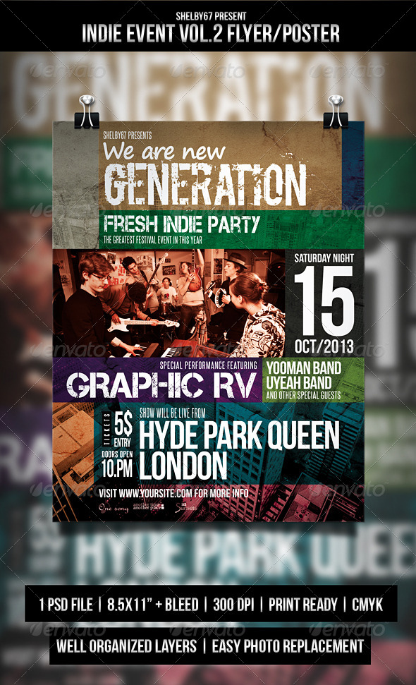 GraphicRiver Indie Event Flyer Poster Vol.2 5584540