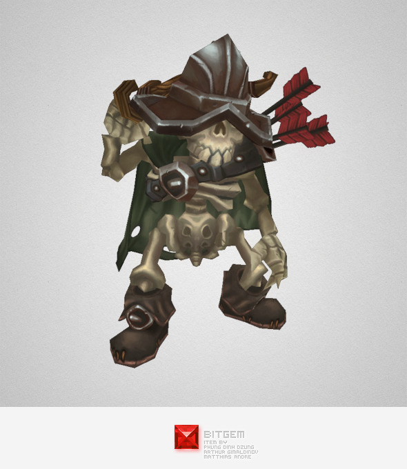 3DOcean Low Poly Skeleton Archer 5584808