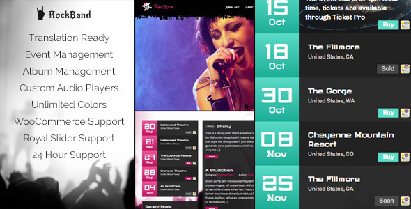 ThemeForest Rock Band Awesome Music Template 5581920