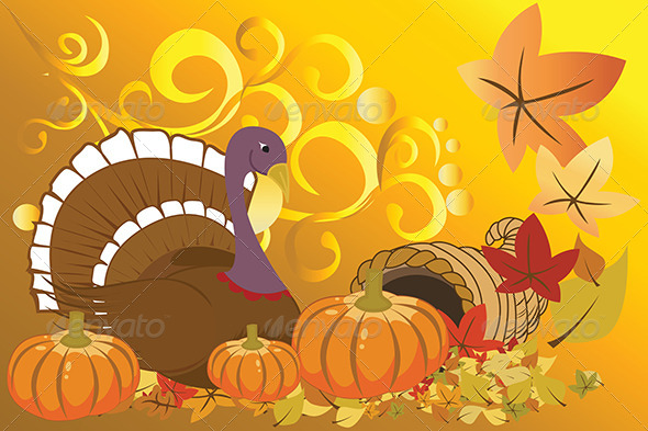 GraphicRiver Turkey and Pumpkins 5585079