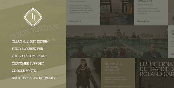 ThemeForest Jason Jordan One Page Photographer Portfolio Theme 5584853