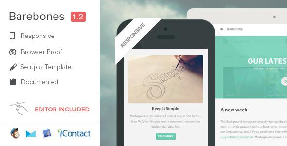 ThemeForest Barebones Responsive Flat E-mail Template 5564171