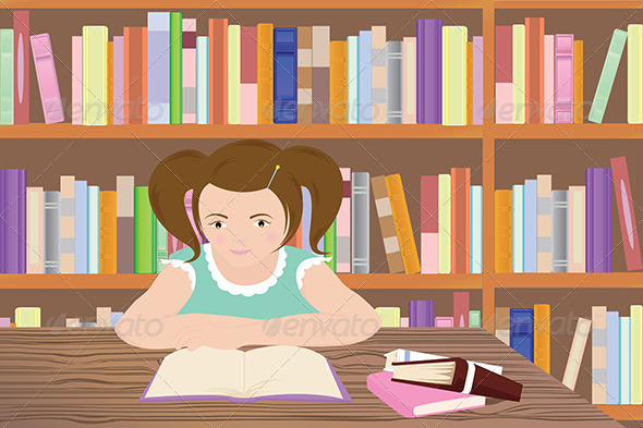 GraphicRiver Studying Girl 5585340