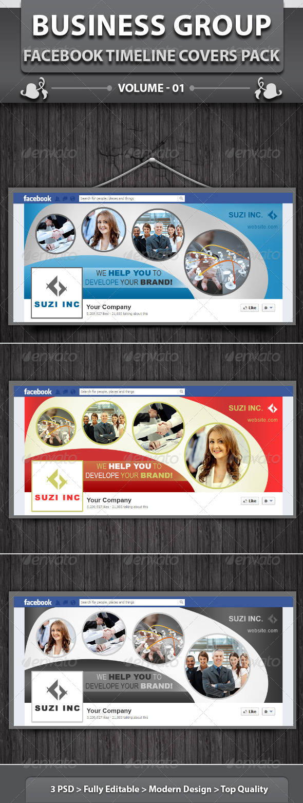GraphicRiver Business Group Fb Timeline Covers Pack v1 5585342