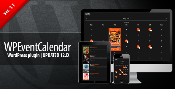 WP EventCalendar is a calendar plugin that will let you manage your events with ease. The plugin itself is fully responsive and retina ready. Works well on mul