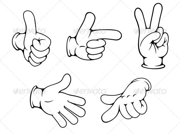 GraphicRiver Set of Positive Hand Gestures 5586090