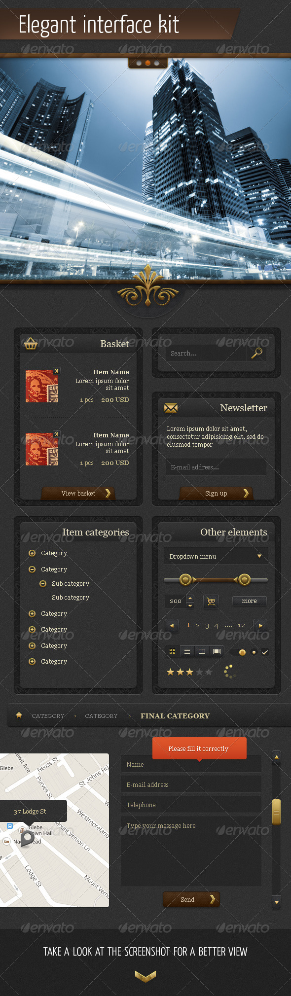 GraphicRiver Elegant Interface Kit 5569418